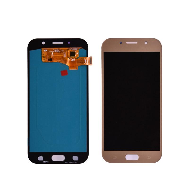 Pour Samsung Galaxy A7 2017 A720 A720F LCD Affichage à L'écran Tactile Digitizer Assemblée LCD pour Galaxy A7 2017 Duos Amoled lcd écran