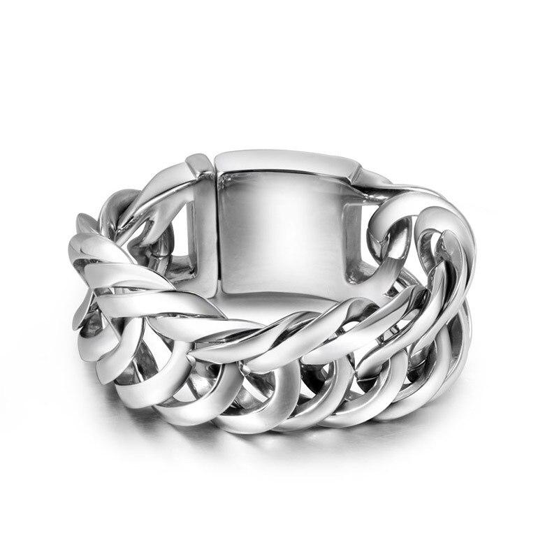 Titane bijoux en gros acier fonderie hommes rock est super large bracelet chaîne bracelet bracelet accessoires CE085