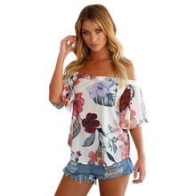 MANDADI Fashion floral chiffon blouse women blusas feminina blusa womens tops and blouses 2018 clothing plus size