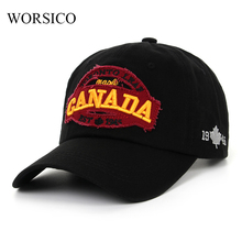 worsico women baseball cap canada embroidery letter snapback hat for men cap casquette gorras drop shipping(China)