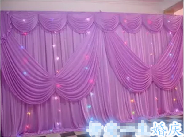 Butterfly Decorations 3X6M Wedding Event Or Party Stage Wall Covering Background Curtain Backdrops Ice Silk Fabric