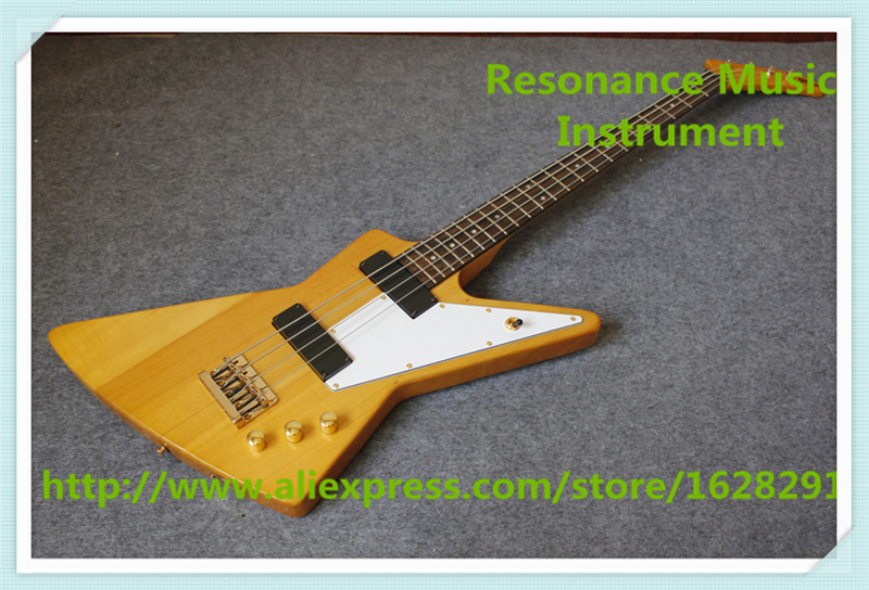New Arrival Chinese 4 String Bass Guitars In Yellow Color Left Handed Custom Available new arrival chinese left handed 6 string electric bass guitars with metallic blue finish for sale