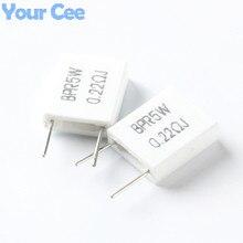 10 шт. 5 Вт 0.22 ом 0.22R BPR56 неиндуктивный Керамическая Цемент Резистора Электронные Компоненты