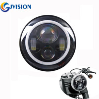 7 INCH Motorcycle Projector Daymaker Angel Eyes LED Headlight For Harley Davidson