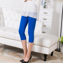 Sexy Solid  Women Summer Leggings High Stretched Jeggings Fitness short legging