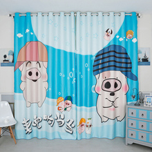 Personal Tailor 2x Grommet Drapery Drape Glass Curtain Nursery Kids Children Room Window Dressing 200cm x 260cm Peppa Pig Blue