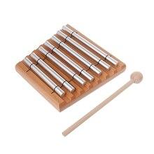 Энергетический колокольчик один тон с молотком ударный инструмент Малыш Дети музыкальная игрушка