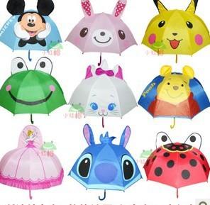 24 pcs  children's umbrella  /Cartoon Umbrellas/Long handle umbrellas