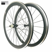 BIKEDOC Carbon Wheels With Alloy Brake Surface 50mm Clincher Road Bicycle Wheel 700c Carbon Alloy Wheelset 23mm Width