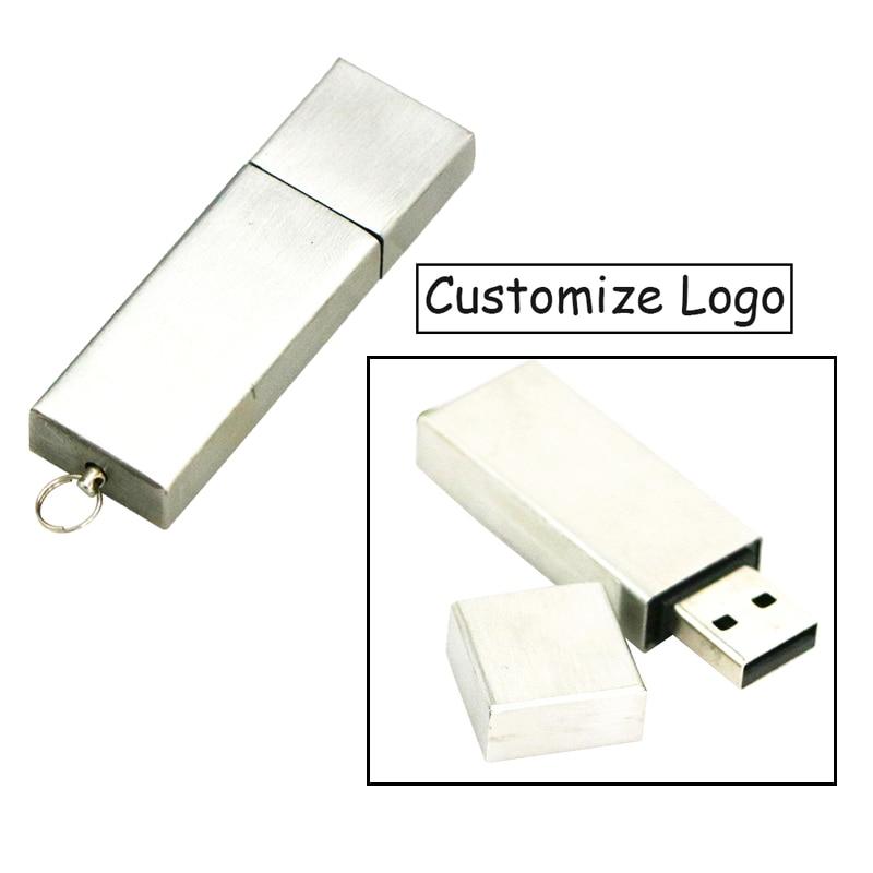 Customize Logo Metal USB Flash Drive Real Capacity 4G 8G 16G USB stick Waterproof pendrive 32G 64GB 128GB usb 2.0 Key flash disk