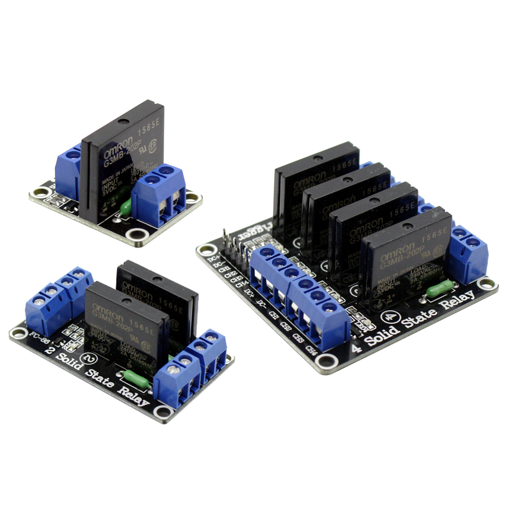 1/2/4 Channel 5V DC Relay Module Solid State Low Level G3MB-202P Relay SSR AVR DSP For Arduino Diy Kit
