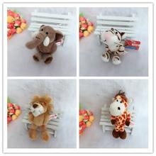 Cute 10cm Germany NICI Jungle Brother Tiger Elephant Monkey Lion Giraffe Plush Animal Keychain Mobile Phone Pendant Toy Gift