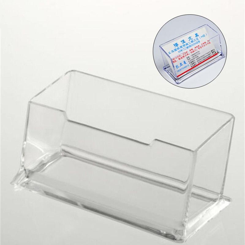 Acrylic Portrait Desktop Business Card Box Boxes Postcards Transparent Holder Home Office School Supplies