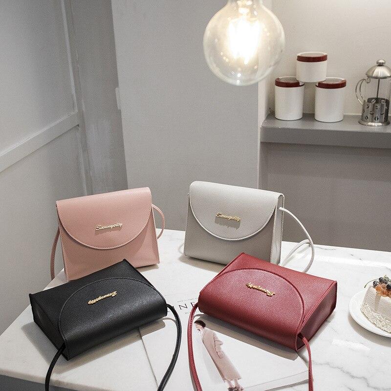 Square Bag Messenger-Bag Shoulder Small Casual Simple Women Fresh Retro The of Korean-Version