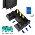Вертикальные многофункциональный охлаждающая подставка док-станция для Sony Playstation 4, Ps4 Тонкий и PS4 Pro Консоли