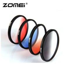 Zomei 카메라 filtro 울트라 슬림 프레임 gnd gradula 컬러 필터 블루 그레이 레드 오렌지 49 55 58 62 67 72 77 82mm dslr 카메라 용