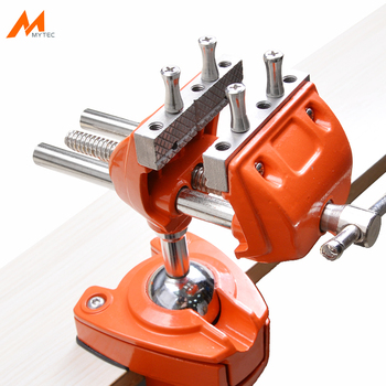 цена на 3 Design Patents Universal Table Vise Aluminium Swivel Tabletop Clamp Vice Tilts Rotate 360 Degree Universal Work