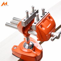 3 Design Patents Universal Table Vise Aluminium Swivel Tabletop Clamp Vice Tilts Rotate 360 Degree Universal Work