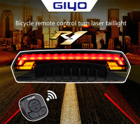 led bike smart laser laser taillights remote control security lights turn warning lights USB charging