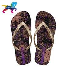 Hotmarzz tongs de plage pour femmes, fleur style bohémien, pantoufles dété pour dames, sandales à la mode, diapositives de douche