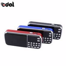 Portable Digital Stereo FM Mini Radio Speaker Music Player with TF Card USB AUX Input Sound