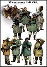 [Tuskmodel] 1 35 échelle résine modèle figurines kit allemand hiver grand ensemble 10 figurines