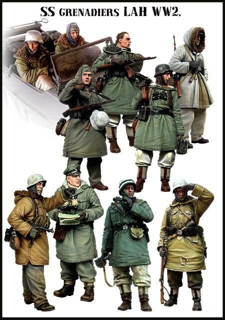 [Tuskmodel] 1 35 scala modello in resina figure kit Tedesco inverno grande set 10 figure