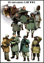 Tuskmodel kit de figuras en miniatura de resina, escala 1 35, juego grande alemán para invierno, 10 figuras