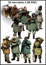 [tuskmodel] 1 35 scale resin model figures kit German winter big set 10 figures