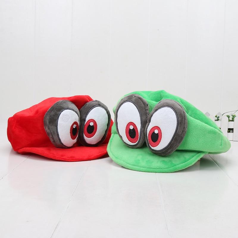 Super Mario Bros Luigi Odyssey kappe hut cosplay kappe Odyssey hut plüsch Spielzeug