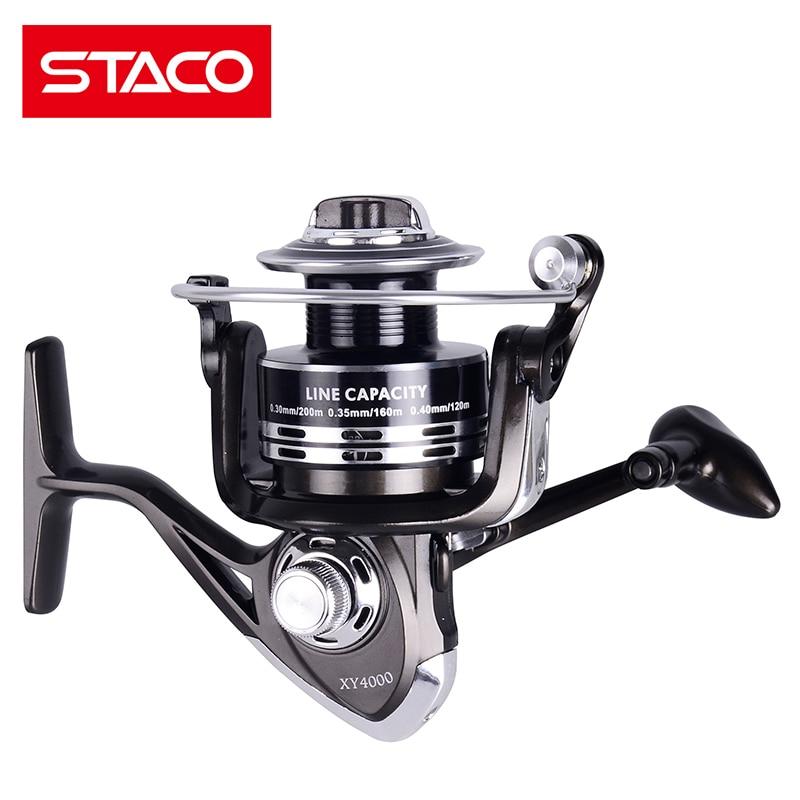 STACO XY1000-6000 Metal Spinning Fishing Reel Jigging Reel Saltwater Freshwater 11BB Seat Ocean Boat Fishing Stream Reel Carp