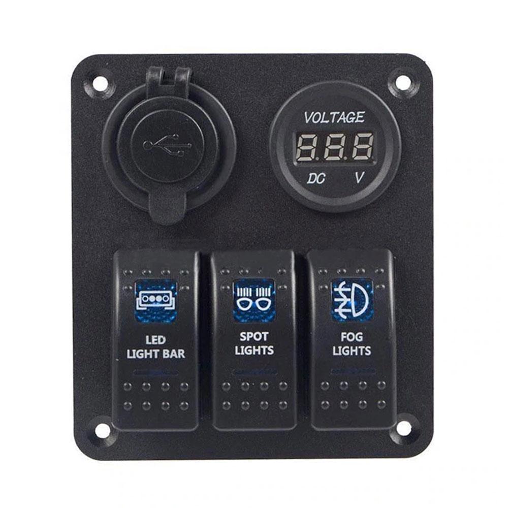 Автомобильный переключатель 12 В/24 В универсальный переключатель панели лодочный тумблер Прочный Контроль - Цвет: blue