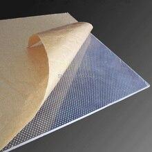 4 мм односторонняя лазерная гравировка Lu светильник направляющая панель, LGP прозрачная акриловая панель для Led светильник коробки(30x30 см