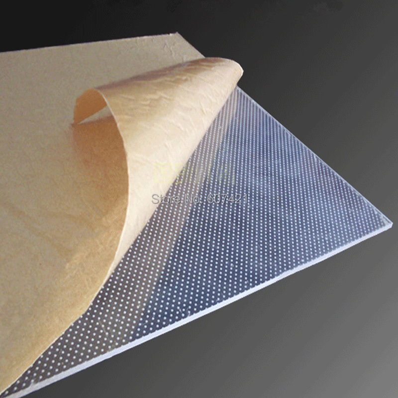 4mm Single Sided Laser Engraving LuLight Guide Panel,LGP Transparent Acrylic Panel for Led Light Boxes(30x30cm)