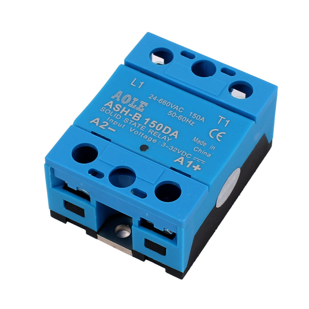 High Quality ASH-150DA 3-32VDC to 660VAC 150A Single Phase Solid State DC to AC Relay High Efficiency for Corrosion new and original sa366200d sa3 66200d gold 3 phase solid state relay 4 32vdc 90 660vac 200a