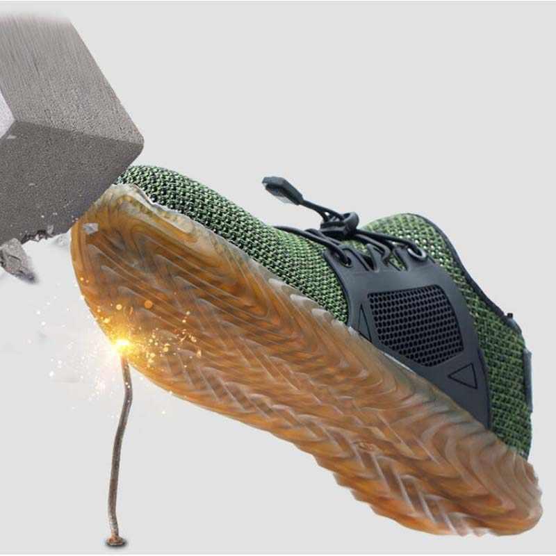 35 ~ 48 חדש לנשימה רשת בטיחות נעלי 2019 גברים אור Sneaker בלתי ניתן להריסה פלדת הבוהן רך אנטי פירסינג עבודה מגפיים בתוספת גודל