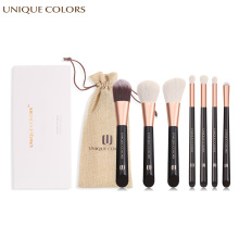 UNIQUE COLORS 7pcs Facial Makeup Brush Set Eye Shadow Foundation Blush Powder Blending Make Up Brushes Cosmetic Tool Soft Hair handmade makeup brushes set 6pcs soft goat hair make up face powder blush eye shadow brush pink handle cosmetic tools