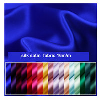 New color 16.5 momme Pure Silk Charmeuse Satin Fabric 100%Nature Silk Fabric
