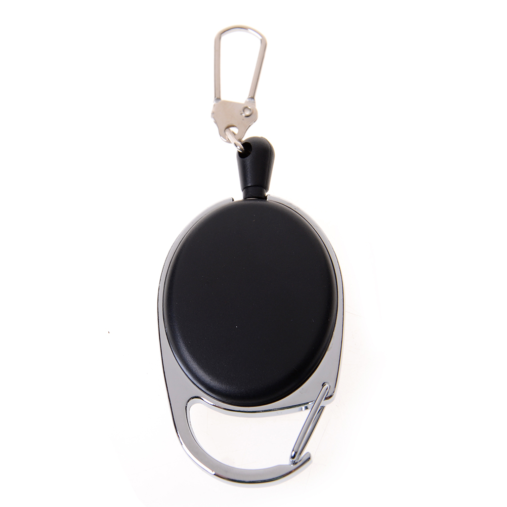 Metal Retractable Pull Buckle Chain Lanyard Badge Holder Reel Belt Clip Dia