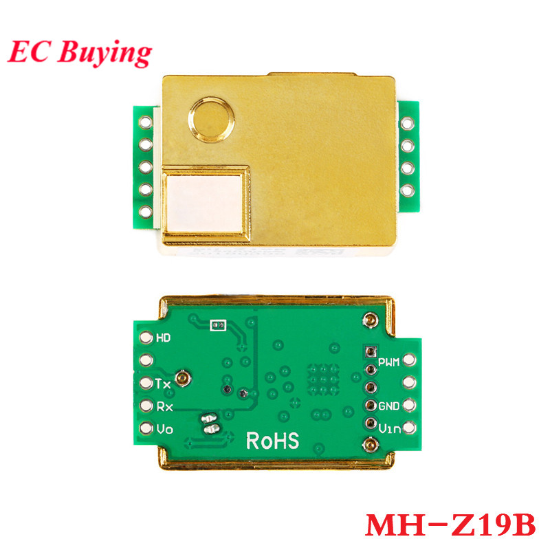 MH-Z19 Infrared CO2 Sensor Module MH-Z19B Carbon Dioxide Gas Sensor For CO2 Monitor 0-5000ppm