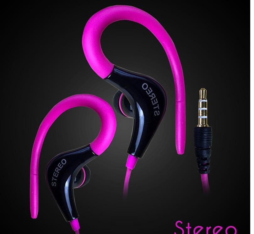 3.5 Mm Jack Hanging Ear Type Anti-shedding Wire Sports Earphones Headset Super Bass Stereo Earphones For Huawei Xiaomi Samsung