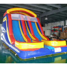 Commercial  PVC material commercial inflatable bouncer  slide outdoor fun inflatable slide Game for sale outdoor commercial use giant inflatable double lane water slide with arch