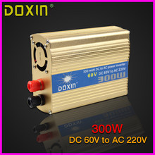 300W household car power inverter converter DC 60V to AC 220V car battery charger Adapter Power Supply ST-N041(China)