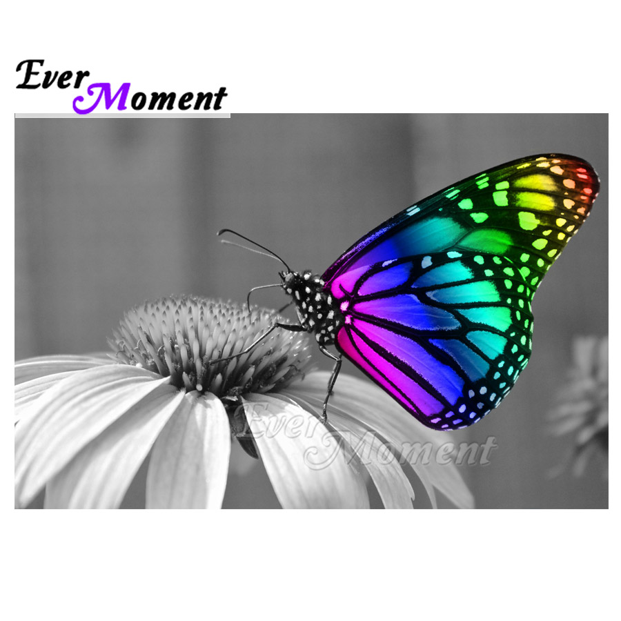 Ever Moment Diamond Painting Mosaic Full Square Drill Picture Of Rhinestone Butterfly Diamond Embroidery Home Decoration ASF1493Ever Moment Diamond Painting Mosaic Full Square Drill Picture Of Rhinestone Butterfly Diamond Embroidery Home Decoration ASF1493