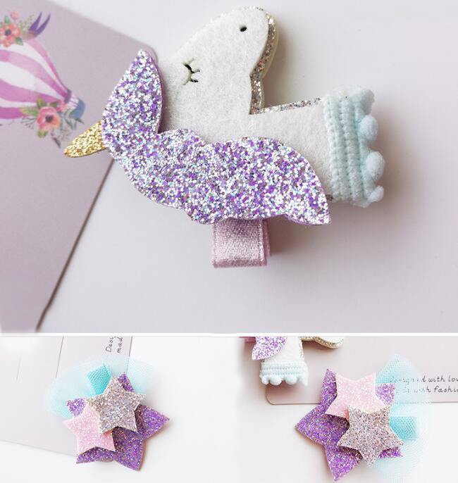 Gifts Hair Clips Unicorn Hair Accessories Star Cute Hairpins 1 Pcs Girls Gifts
