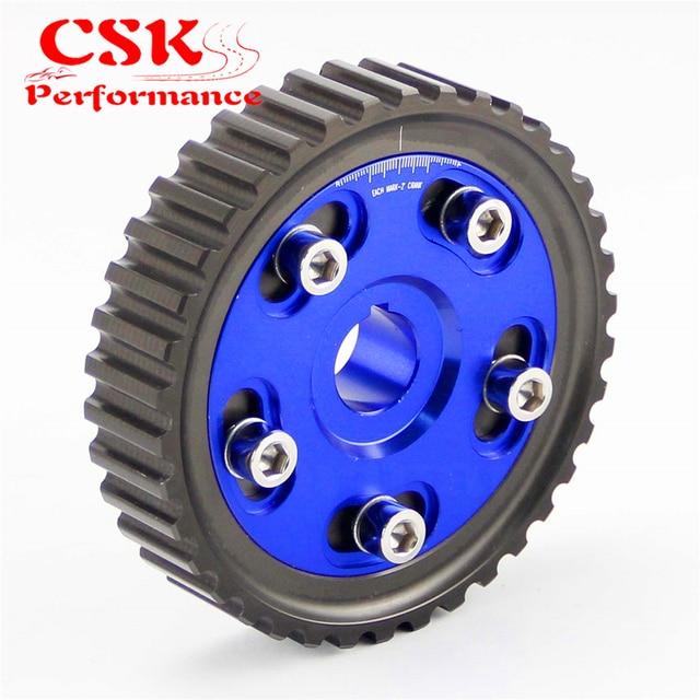1 pcs adjustable cam gears pulley alloy timing gear fits for honda rh aliexpress com