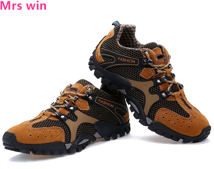 Running Shoes Autumn Style Mens Running Shoes Metal Stitching Waterproof Sports Shoes Outdoor Camping Trekking Men Sneakers Zapatos Sports & Entertainment