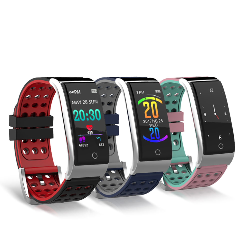E08 Smart Bracelet Wristband Heart Rate Monitor ECG/PPG Fitness Tracker Blood Pressure Smart Wristband Watch for IOS Android dawo ecg smart bracelet blood pressure smart wristband heart rate temperature pedometer bluetooth fitness band for ios android