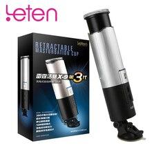 Leten NEW Piston Male Masturbator Cup Full Automatic Retractable Vibrator Masturbator For Man Real Pussy Vagina Sex Toys For Men