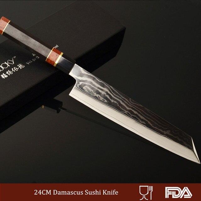 24 cm Damaskus Stahl Küche Messer Japanischen Sushi Messer ...